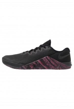 Nike METCON 5 - Sportschoenen black/oil grey/sunset pulseNIKE203045