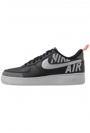 Nike AIR FORCE 1 '07 LV8 - Sneakers laag black/wolf grey/dark grey/total orange/whiteNIKE202554