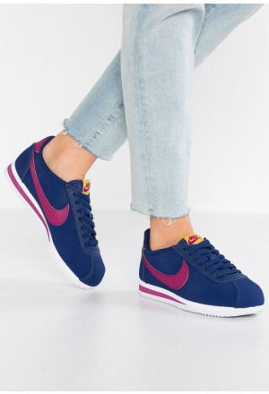 Nike CLASSIC CORTEZ - Sneakers laag blue void/true berry/dark citron/whiteNIKE101576