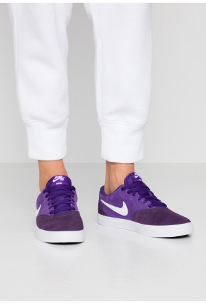 Nike SB CHECK SOLAR - Sneakers laag grand purple / whiteNIKE101535