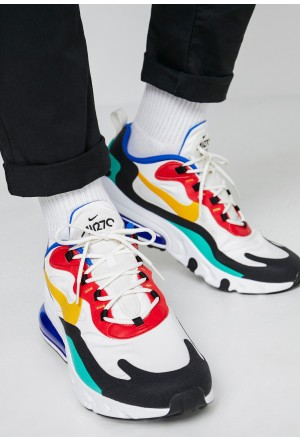 Nike AIR MAX 270 REACT - Sneakers laag phantom/university  gold/university  red/black/kinetic green/hyper royalNIKE202295