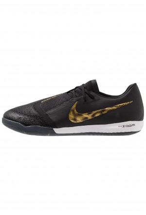 Nike ZOOM PHANTOM PRO IC - Zaalvoetbalschoenen black/metallic vivid goldNIKE202964
