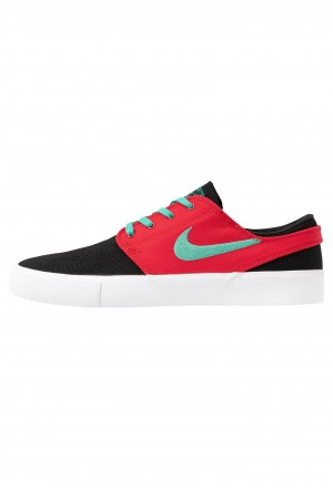 Nike SB ZOOM JANOSKI - Sneakers laag black/true green/atom red/white/true greenNIKE202438