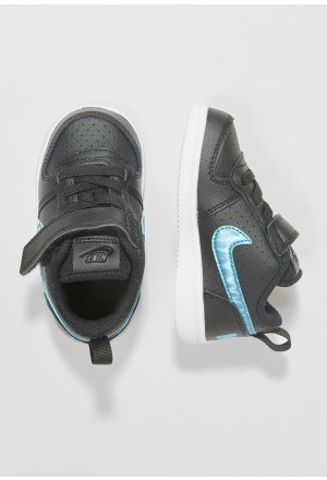 Nike COURT BOROUGH LOW - Babyschoenen black/light current blue/whiteNIKE101530