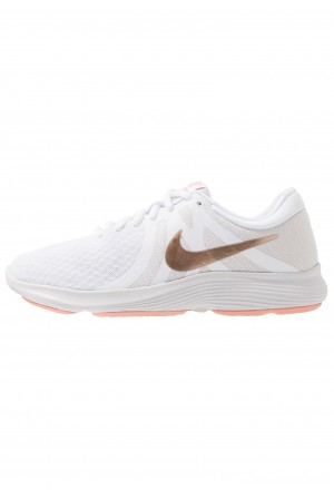 Nike WMNS REVOLUTION 4 EU - Hardloopschoenen neutraal white/metallic red bronze/vast grey/pink quartzNIKE101693