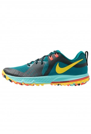 Nike AIR ZOOM WILDHORSE 5 - Trail hardloopschoenen geode teal/chrome yellow/black/aurora green/bright crimsonNIKE101911