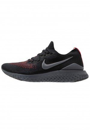 Nike EPIC REACT FK 2 - Hardloopschoenen neutraal black/dark grey/flash crimsonNIKE203164