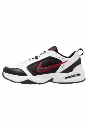 Nike AIR MONARCH IV - Sneakers laag white/black/varsity redNIKE202278