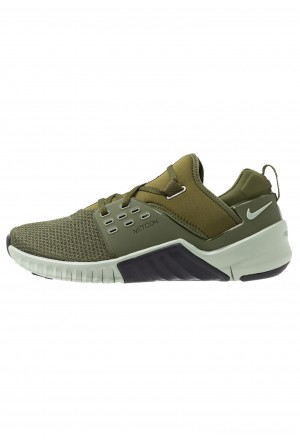 Nike FREE METCON 2 - Loopschoen neutraal legion green/oil grey/jade horizon/imperial blueNIKE202797