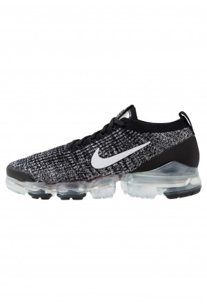 Nike AIR VAPORMAX FLYKNIT - Sneakers laag black/white/metallic silverNIKE202363