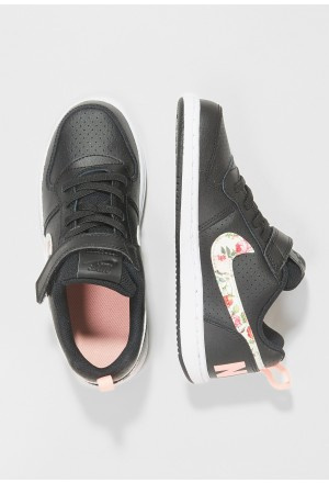 Nike COURT BOROUGH LOW - Sneakers laag black/pale ivory/pink tintNIKE303396