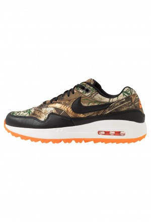 Nike Golf AIR MAX 1 G REAL TREE NRG - Golfschoenen baroque brown/black/total orange/summit whiteNIKE203171