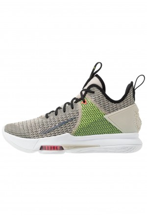 Nike LEBRON WITNESS IV - Basketbalschoenen string/black/volt/bright crimson/whiteNIKE203012