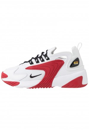 Nike ZOOM 2K - Sneakers laag white/black/gym redNIKE202482