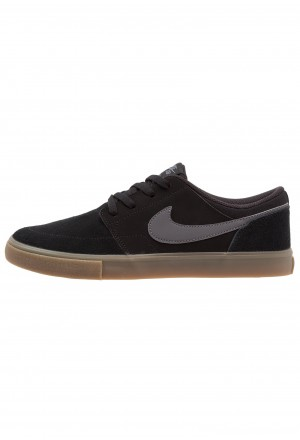 Nike SB PORTMORE II SOLAR - Skateschoenen black/light brown/dark greyNIKE202492