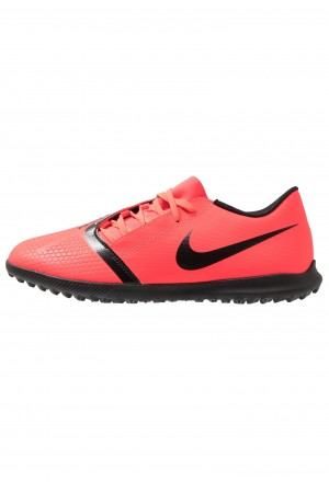 Nike PHANTOM CLUB TF - Voetbalschoenen voor kunstgras bright crimson/black/metallic silverNIKE202925