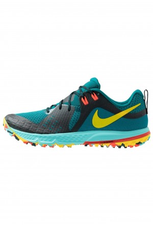 Nike AIR ZOOM WILDHORSE 5 - Trail hardloopschoenen geode teal/chrome yellow/black/aurora green/bright crimsonNIKE202826