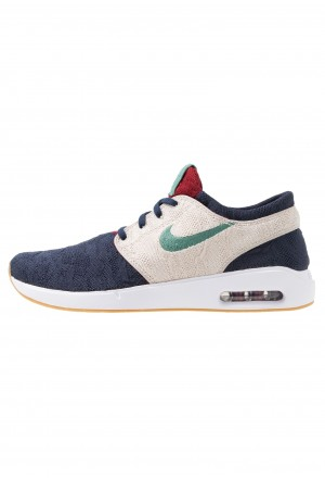 Nike SB AIR MAX JANOSKI 2 - Sneakers laag obsidian bicoastal/desert sand/light brown/team redNIKE202313