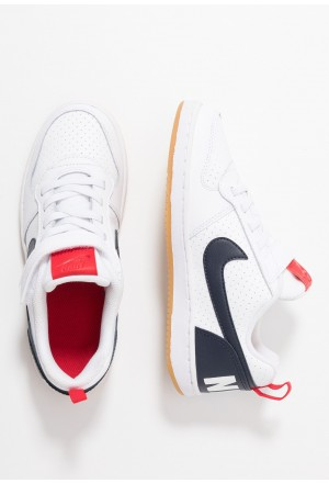 Nike COURT BOROUGH - Sneakers laag white/obsidian/university red/light brownNIKE303399