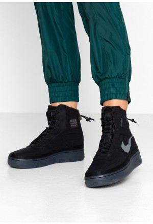 Nike AIR FORCE 1 - Sneakers hoog black/dark greyNIKE101570