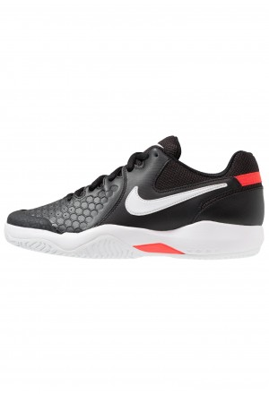 Nike AIR ZOOM RESISTANCE - Tennisschoenen voor kleibanen black/white/bright crimsonNIKE203015