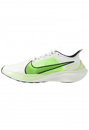 Nike ZOOM GRAVITY - Hardloopschoenen neutraal summit white/electric green/black/spruce aura/lab greenNIKE101793