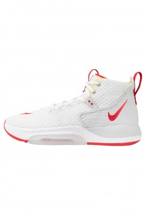 Nike ZOOM RIZE - Basketbalschoenen white/red orbit/aurora greenNIKE202866