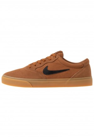 Nike SB CHRON SLR - Sneakers laag light british tan/black/light brownNIKE202240