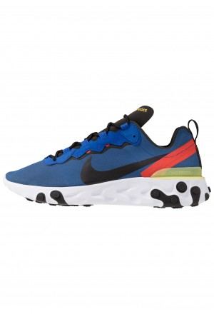 Nike REACT 55 - Sneakers laag game royal/black/white/dynamic yellow/habanero redNIKE202558