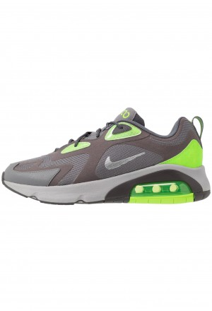 Nike AIR MAX 200 - Sneakers laag thunder grey/metalic silver/gunsmoke/electric green/atmosphere greyNIKE202385