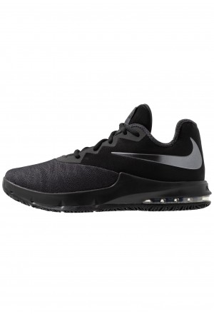 Nike AIR MAX INFURIATE III LOW - Basketbalschoenen black/metallic dark grey/anthraciteNIKE202838