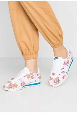 Nike CLASSIC CORTEZ - Sneakers laag white/hyper pink/green abyssNIKE101584