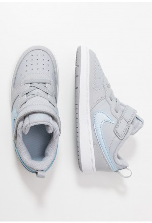 Nike COURT BOROUGH LOW 2 - Sneakers laag wolf grey/metallic dark grey/celestine blue/whiteNIKE303405