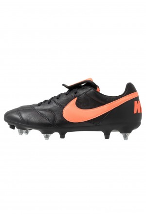 Nike MEN'S PREMIER II ANTI-CLOG TRACTION SOFT-GROUND - Voetbalschoenen met metalen noppen black/hyper crimsonNIKE203106