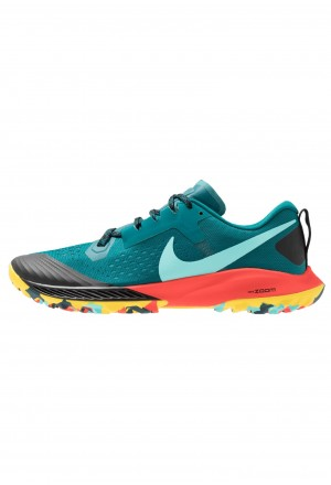Nike AIR ZOOM TERRA KIGER 5 - Trail hardloopschoenen geode teal/aurora green7black/bright crimson/chrome yellowNIKE101871