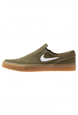 Nike SB ZOOM JANOSKI - Instappers medium olive/white/light brown/photo blue/hyper pinkNIKE202662
