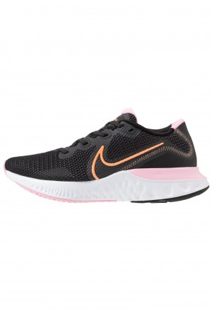 Nike RENEW RUN - Hardloopschoenen neutraal black/orange pulse/white/pinkNIKE101921