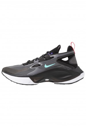 Nike SIGNAL D/MS/X - Sneakers laag black/dark grey/off noir/rush violet/light aqua/red orbitNIKE101434
