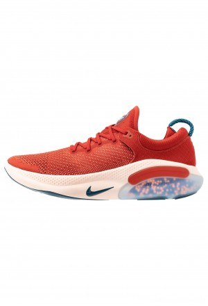 Nike JOYRIDE RUN FK - Hardloopschoenen neutraal cinnabar/blue force/crimson tint/aurora green/orange pulse/terra blushNIKE202708