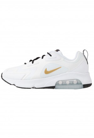 Nike AIR MAX 200 - Sneakers laag white/metallic gold/black/metallic silverNIKE202260