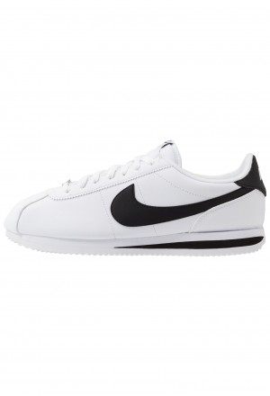 Nike CORTEZ BASIC - Sneakers laag white/black/metallic silverNIKE202346