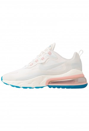 Nike AIR MAX 270 REACT - Sneakers laag summit white/ghost aqua/phantom/coral stardust/imperial blue/light boneNIKE202294