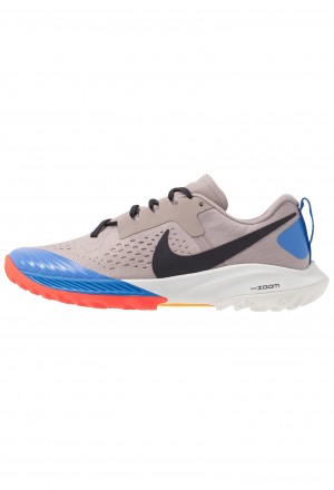 Nike AIR ZOOM TERRA KIGER 5 - Trail hardloopschoenen pumice/oil grey/pacific blueNIKE101870