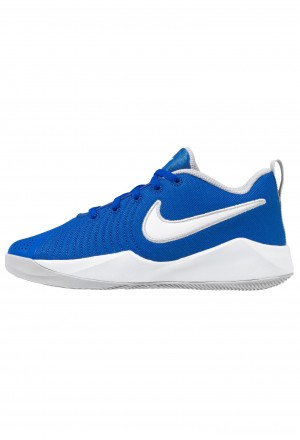 Nike TEAM HUSTLE QUICK 2 - Basketbalschoenen game royal/white/wolf greyNIKE303586