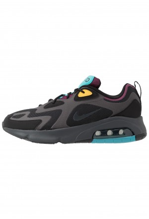 Nike AIR MAX 200 - Sneakers laag black/anthracite/bordeaux/university goldNIKE202262