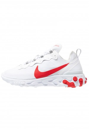 Nike REACT ELEMENT 55 SE - Sneakers laag white/university redNIKE202517
