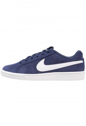 Nike COURT ROYALE SUEDE - Sneakers laag midnight navy/whiteNIKE101566