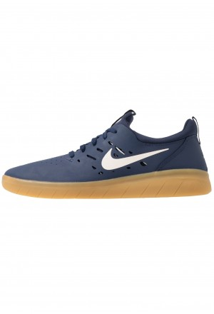 Nike SB NYJAH FREE - Skateschoenen midnight navy/summit white/light brownNIKE202462