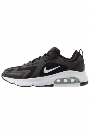 Nike AIR MAX 200 - Sneakers laag black/white/off noir/metallic silverNIKE202596