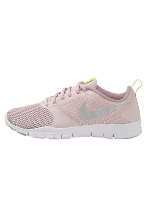 Nike FLEX ESSENTIAL TR - Sportschoenen barely rose/metallic silver/elemental rose/volt glowNIKE101640